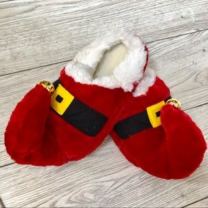 Santa jingle bell slippers